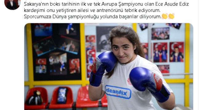 AVRUPA BOKS ŞAMPİYONU ECE ASUDE DENİZ'E DESTEKLER KESİLMİYOR