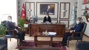 Başkan İshak Sarı, (DSİ) 3. Bölge Müdürü Kağan Şan'ı Ziyaret Etti